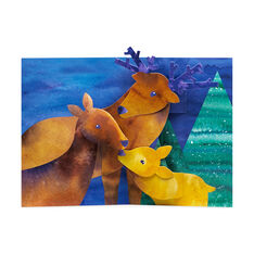 Nestling Deer Holiday Cards (Box of 8) in color