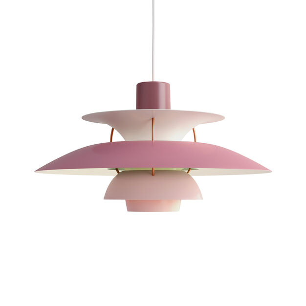 PH 5 Hanging Lamp in color Rose