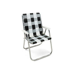 Classic Lawn Chair in color Black/ White