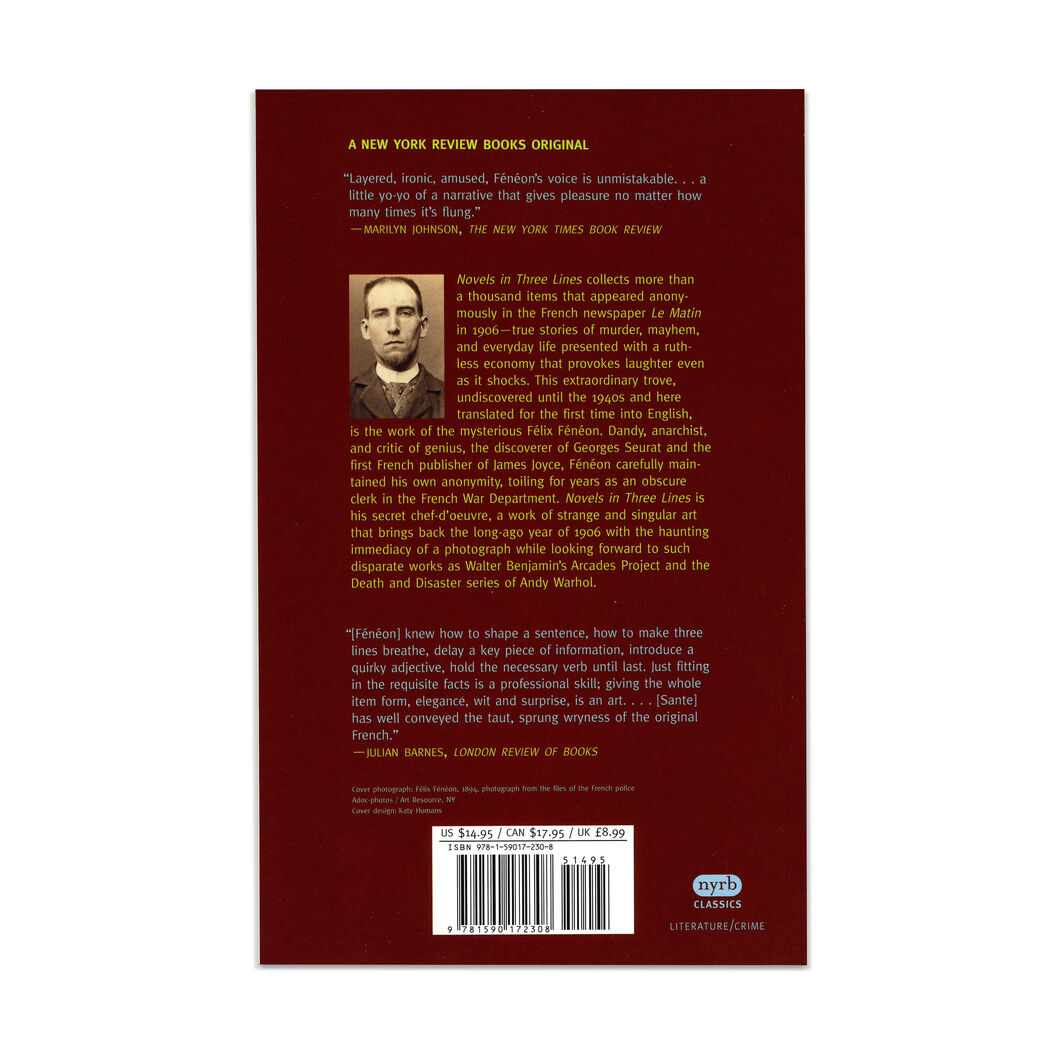 Novels In Three Lines by Felix Feneon - Paperback in color