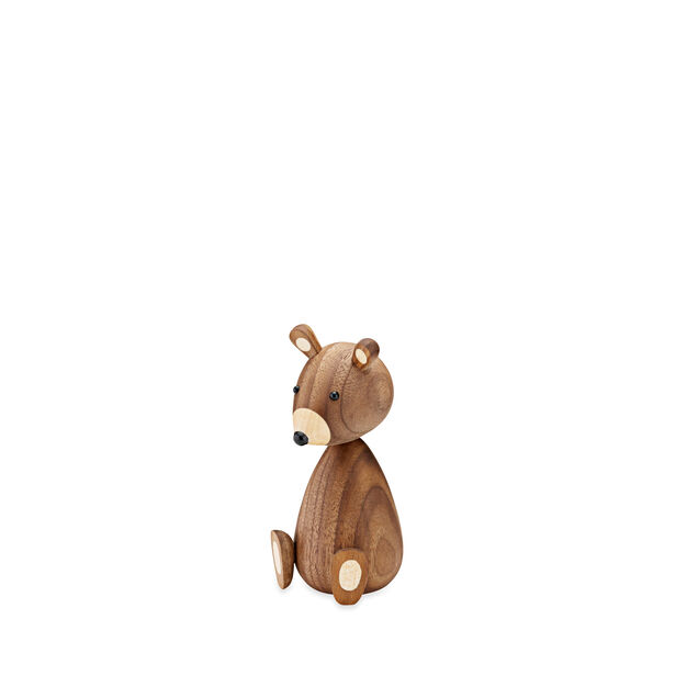 Wood Bear Family in color Walnut