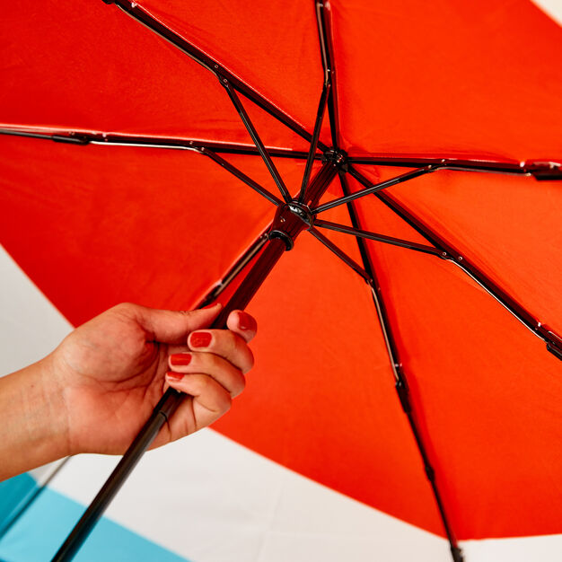 MoMA Colorblock Umbrella in color Red/ Turquoise