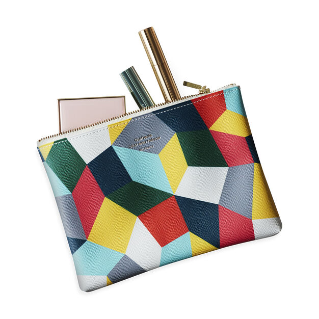 Patchwork Print Pouch in color