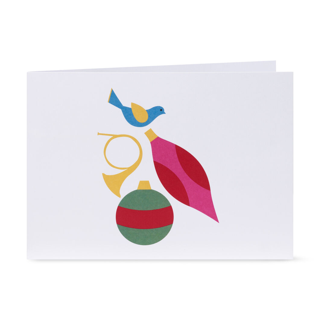 Shimmering Tree Holiday Cards- Set of 8 in color