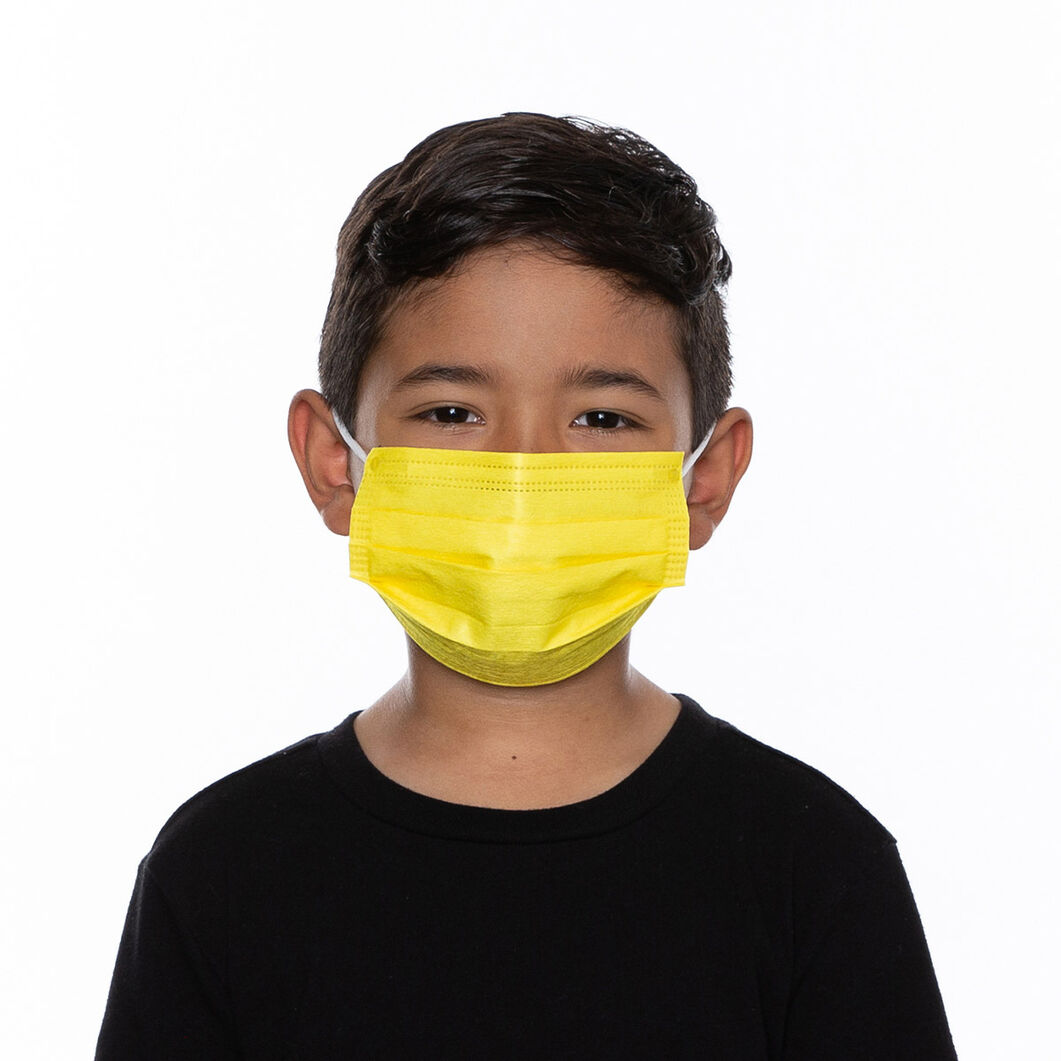 Kids' Medipop Single-Use Masks - Set of 5 in color Yellow