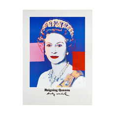 Andy Warhol Queen Elizabeth II Poster in color