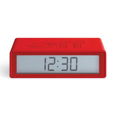Lexon Flip+ Travel Alarm Clock in color Red