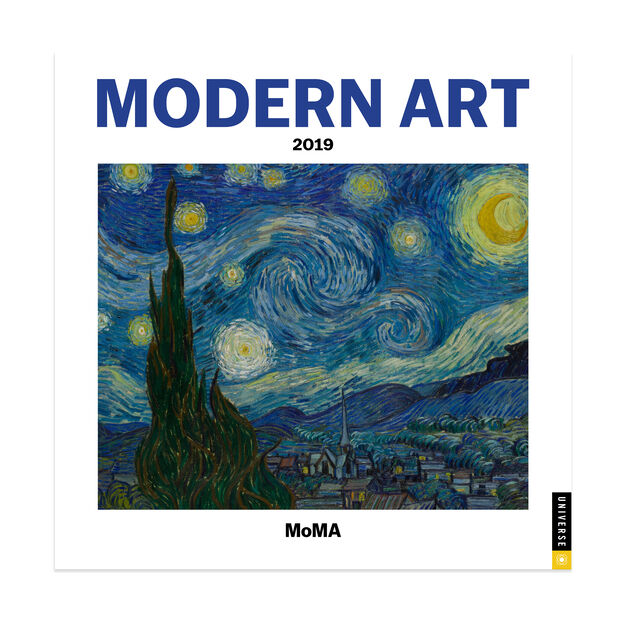 2019 Modern Art Mini Wall Calendar in color