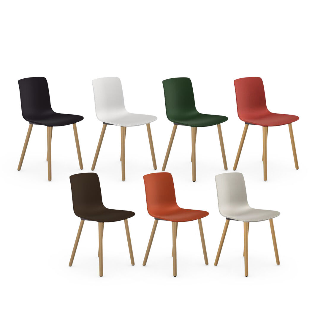 HAL Wood Chair in color Black