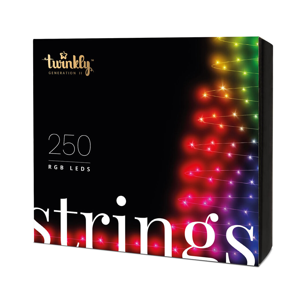 Twinkly LED Smart Holiday Lights 250 RGB in color