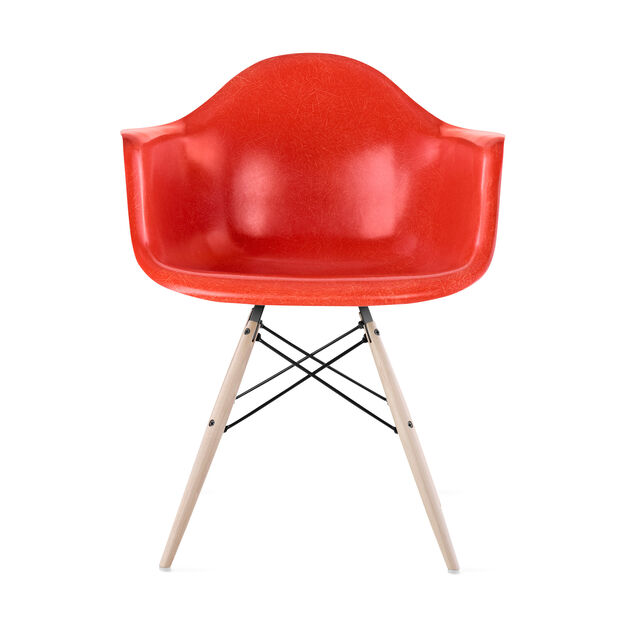 Eames DFAW Armchair  Red Orange in color