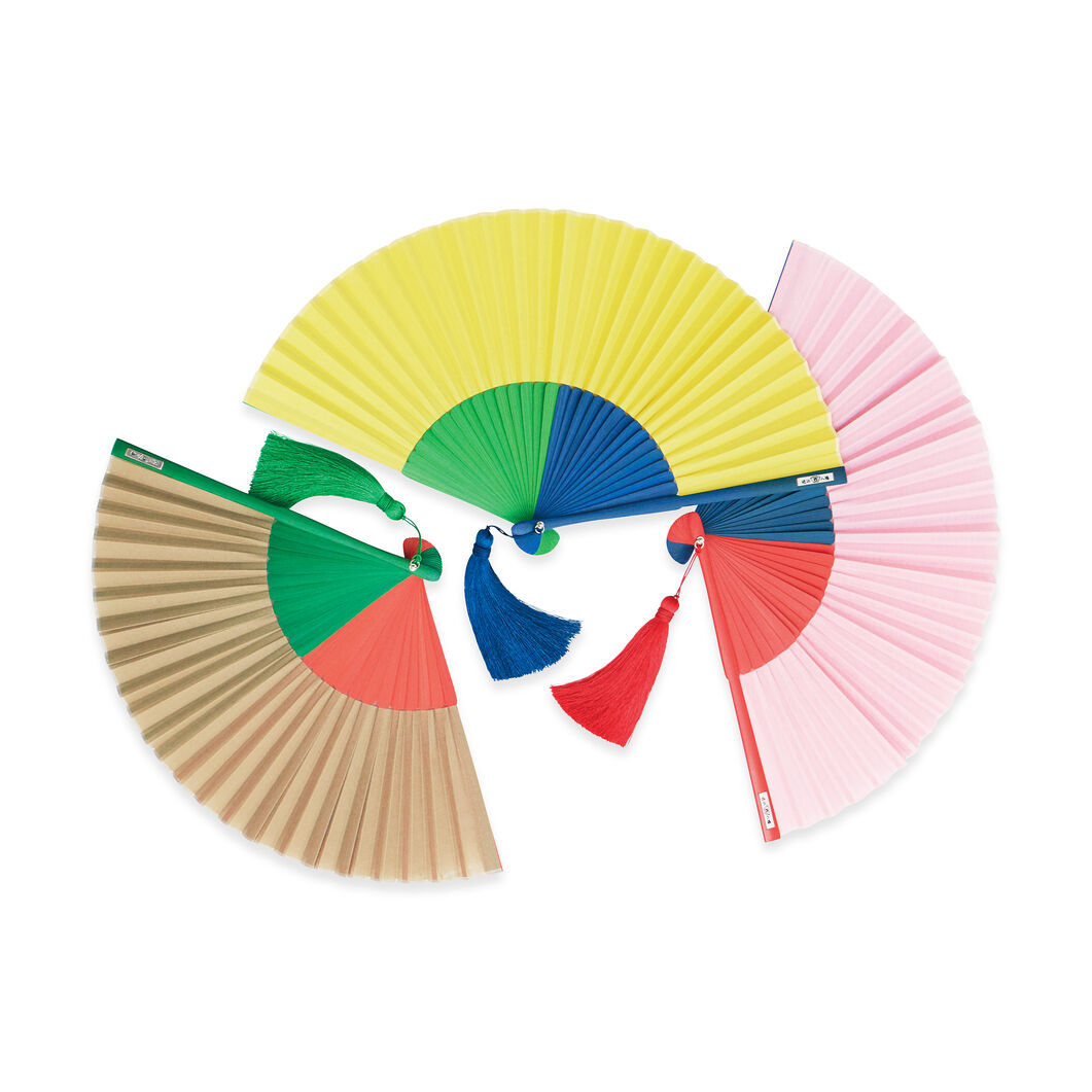 Multi-Colored Japanese Fans in color Pink