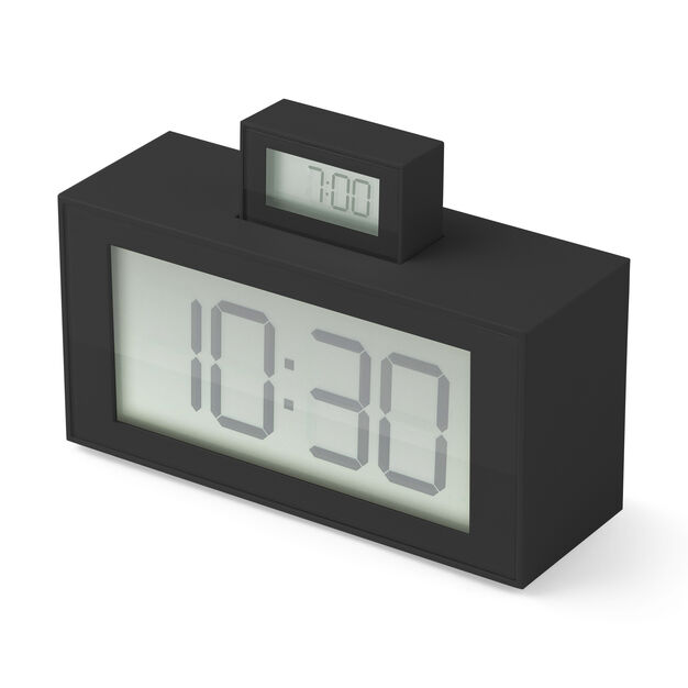 InOut Alarm Clock - Black in color Black