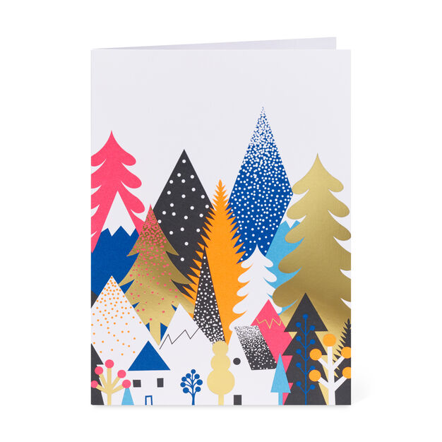 Forest Holiday Holiday Cards - Set of 8 in color