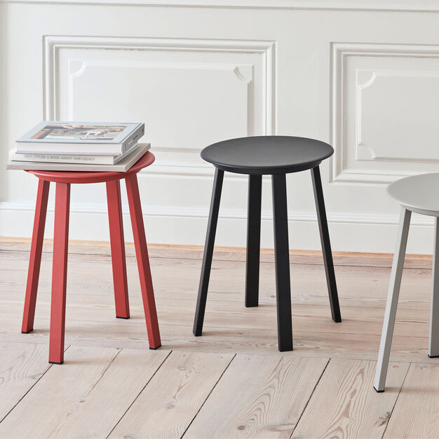 HAY Revolver Stool in color Red