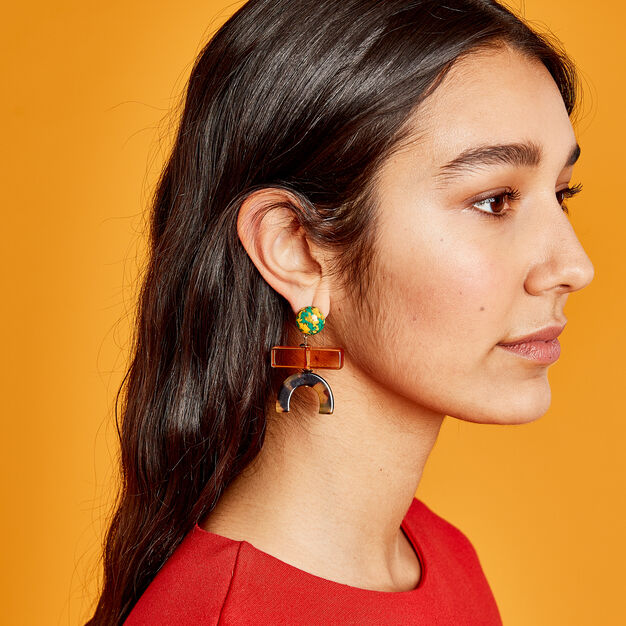 Rachel Comey Stroller Earrings in color Peach