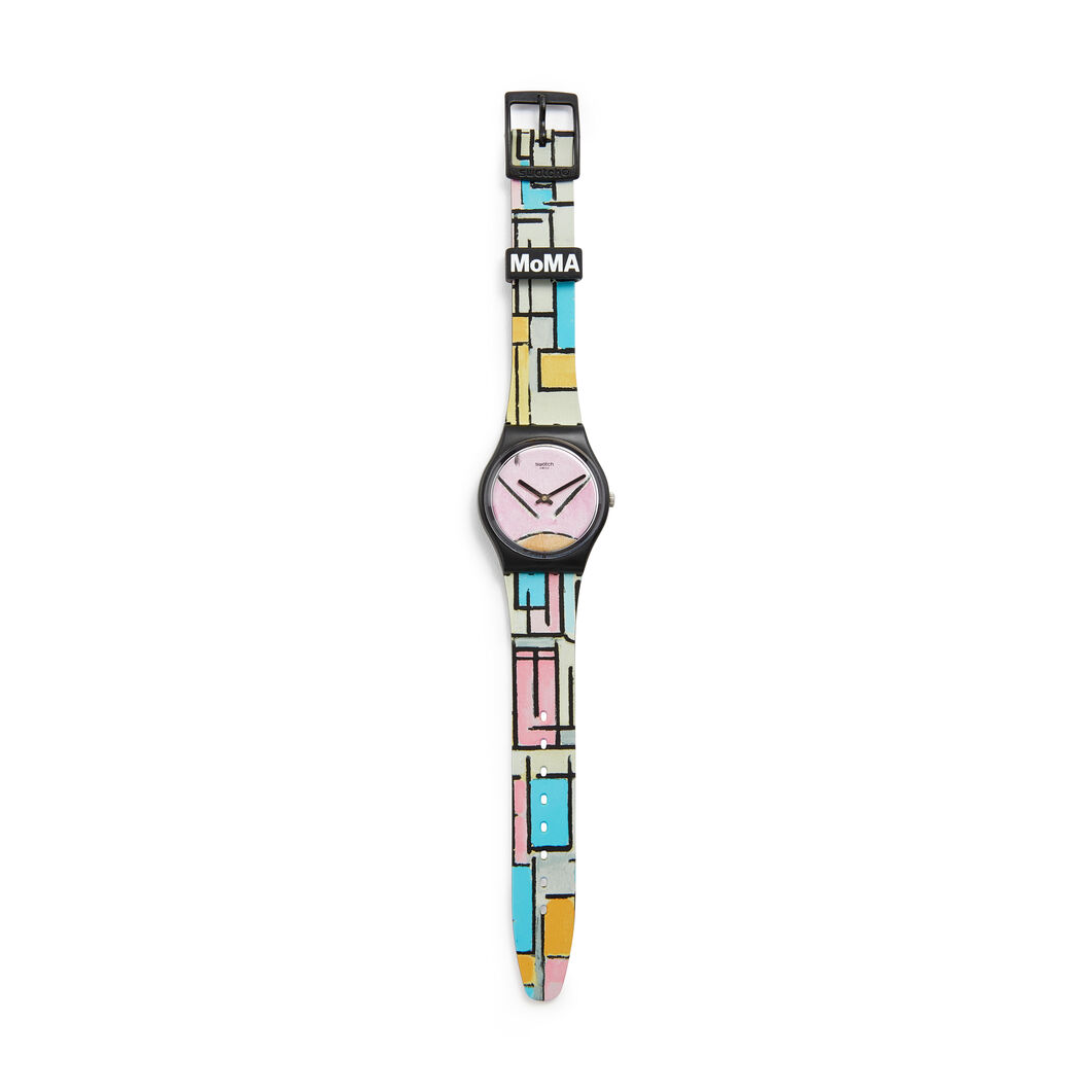 Swatch x MoMA Watches in color Mondrian