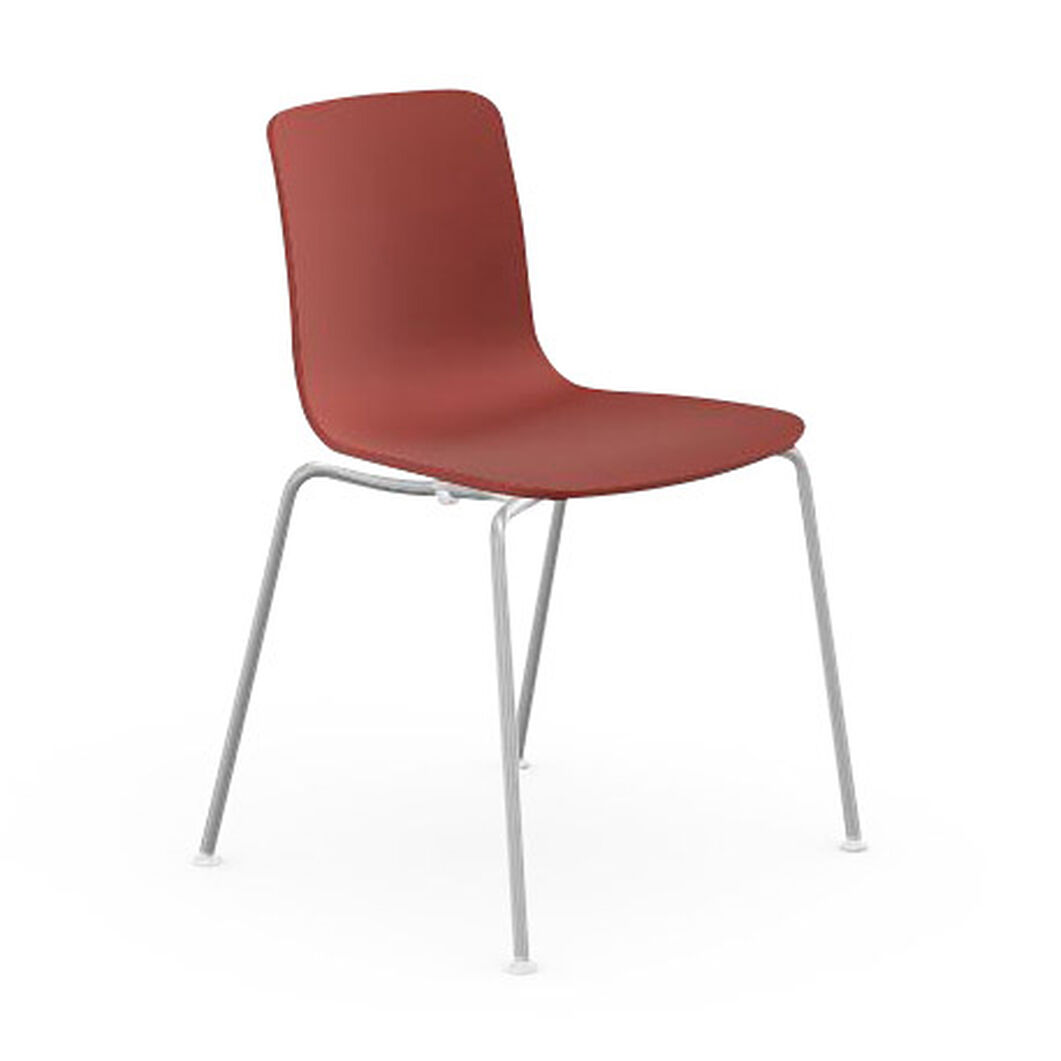 HAL Stackable Tube Chair in color Brick
