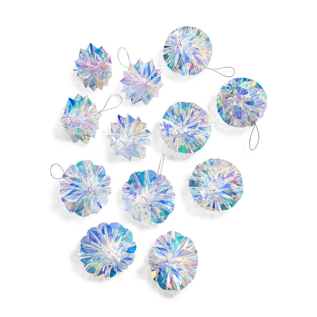 White Honeycomb Ornaments - Set of 12 in color
