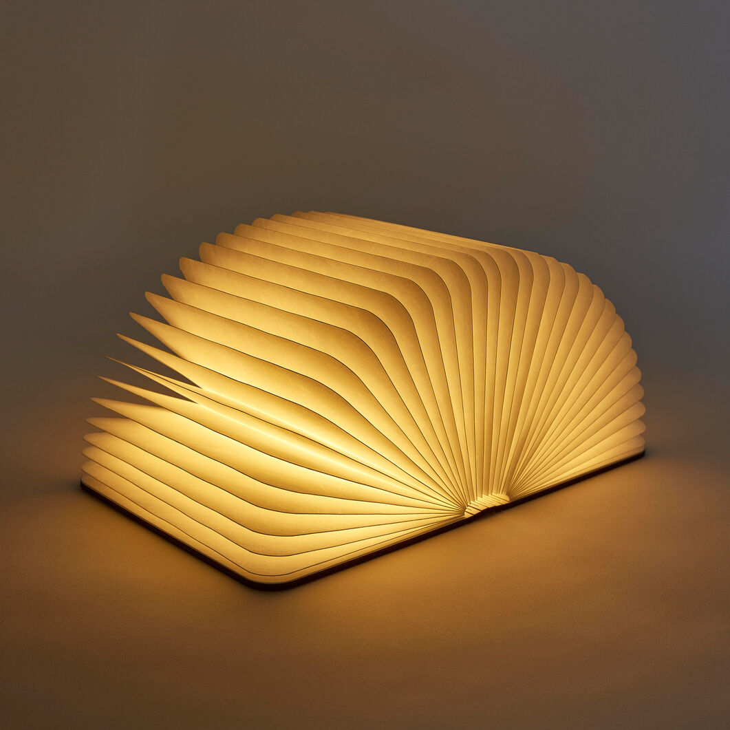 Lumio Book Lamp in color Walnut