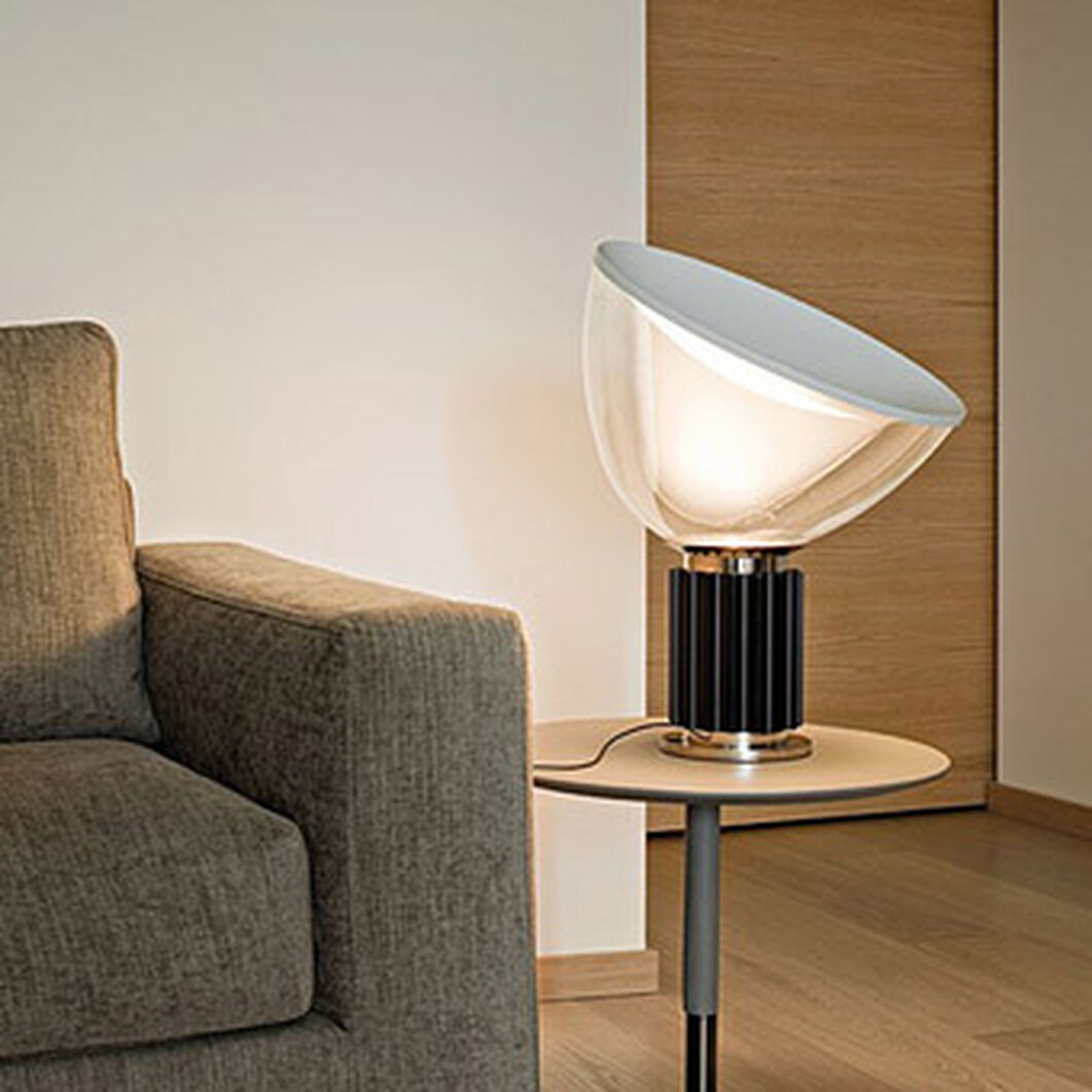 Flos Taccia LED Table Lamp in color Black