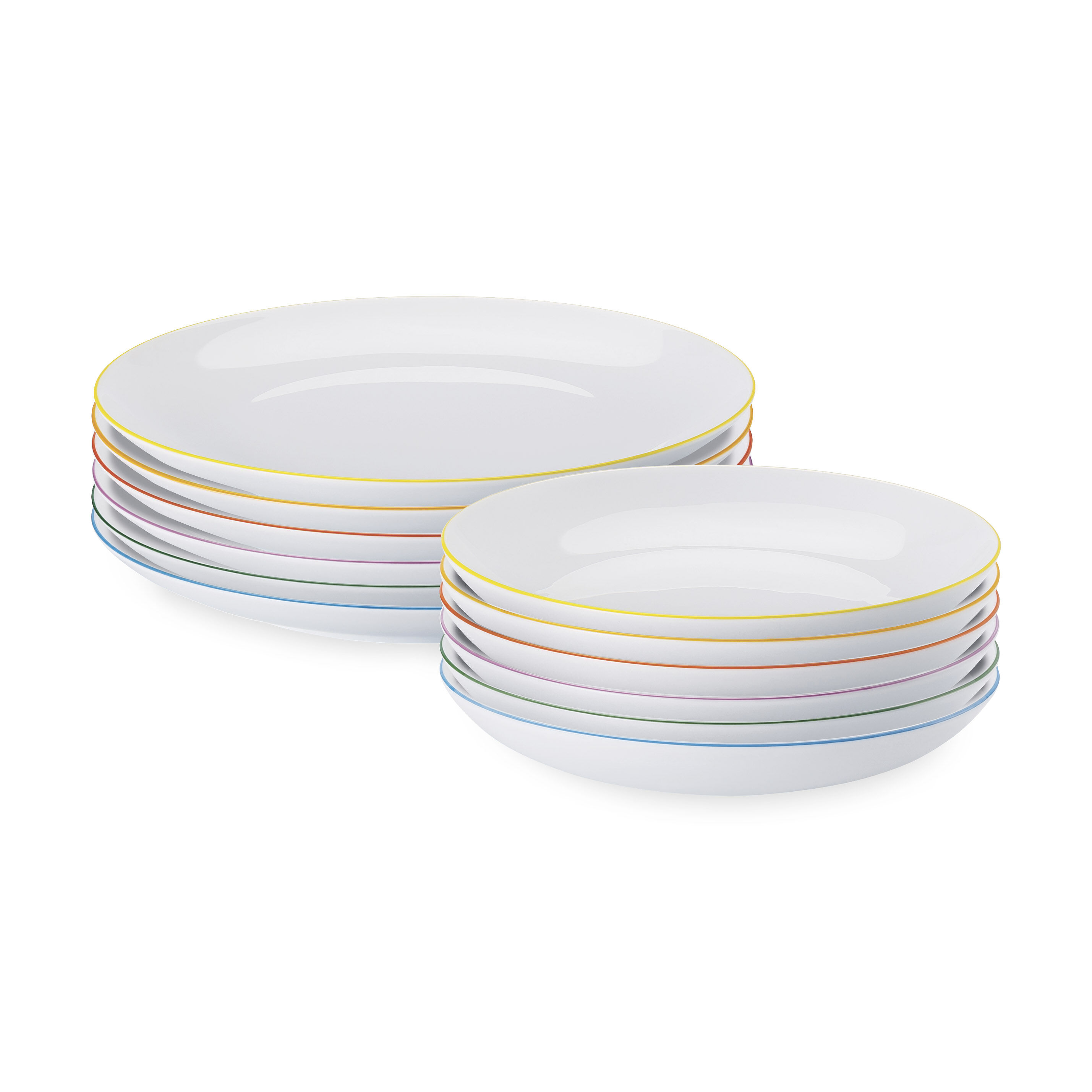 Cucina Colori Dinnerware Plate Set in color  sc 1 st  MoMA Design Store : turquoise plate set - pezcame.com