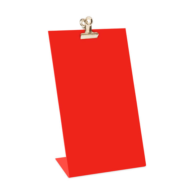Frame Clipboard in color Red