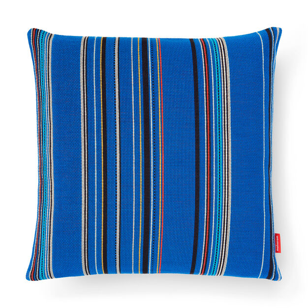 Point Pillow - Cobalt in color