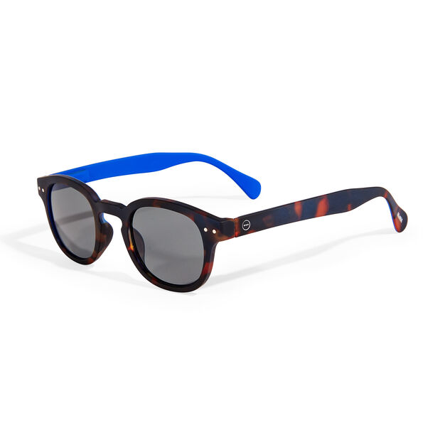 MoMA Edition IZIPIZI Sunglasses #C in color Tortoise/ Blue