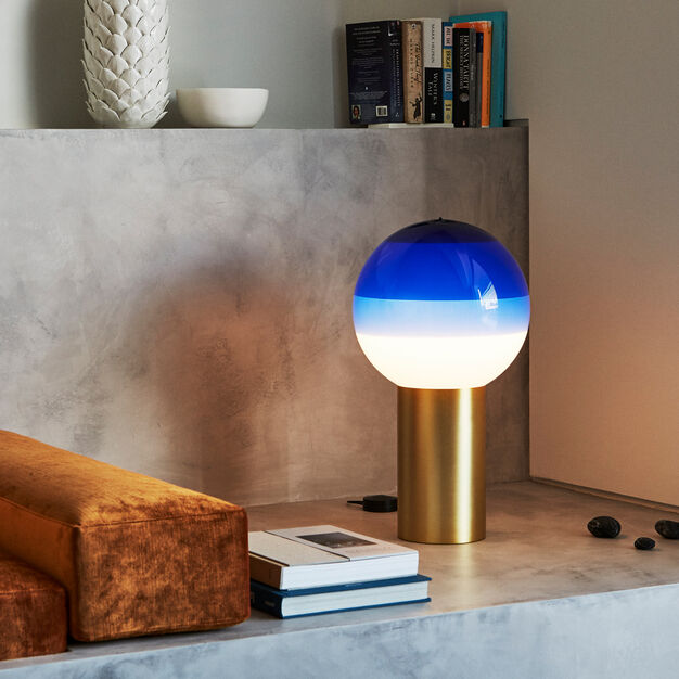 Dipping Table Lamp in color Blue