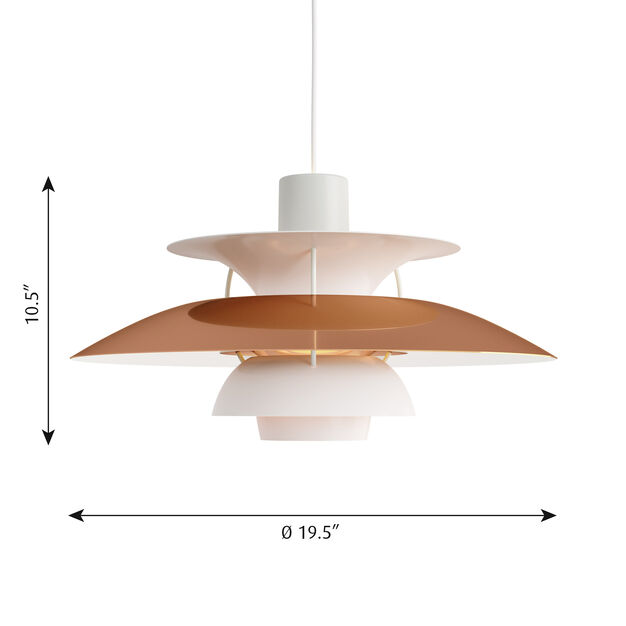 PH 5 Hanging Lamp in color Copper