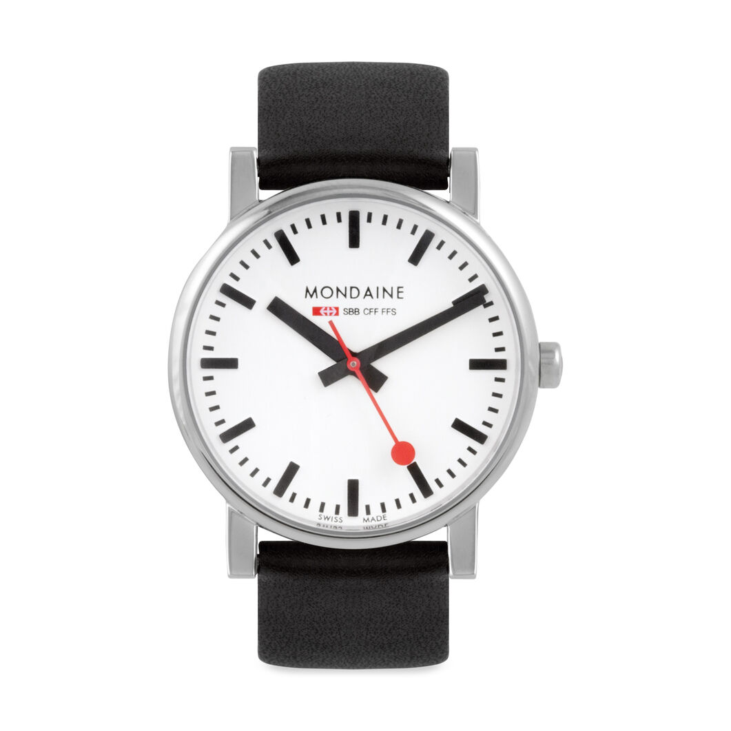 Swiss Railway Watch Black Band in color