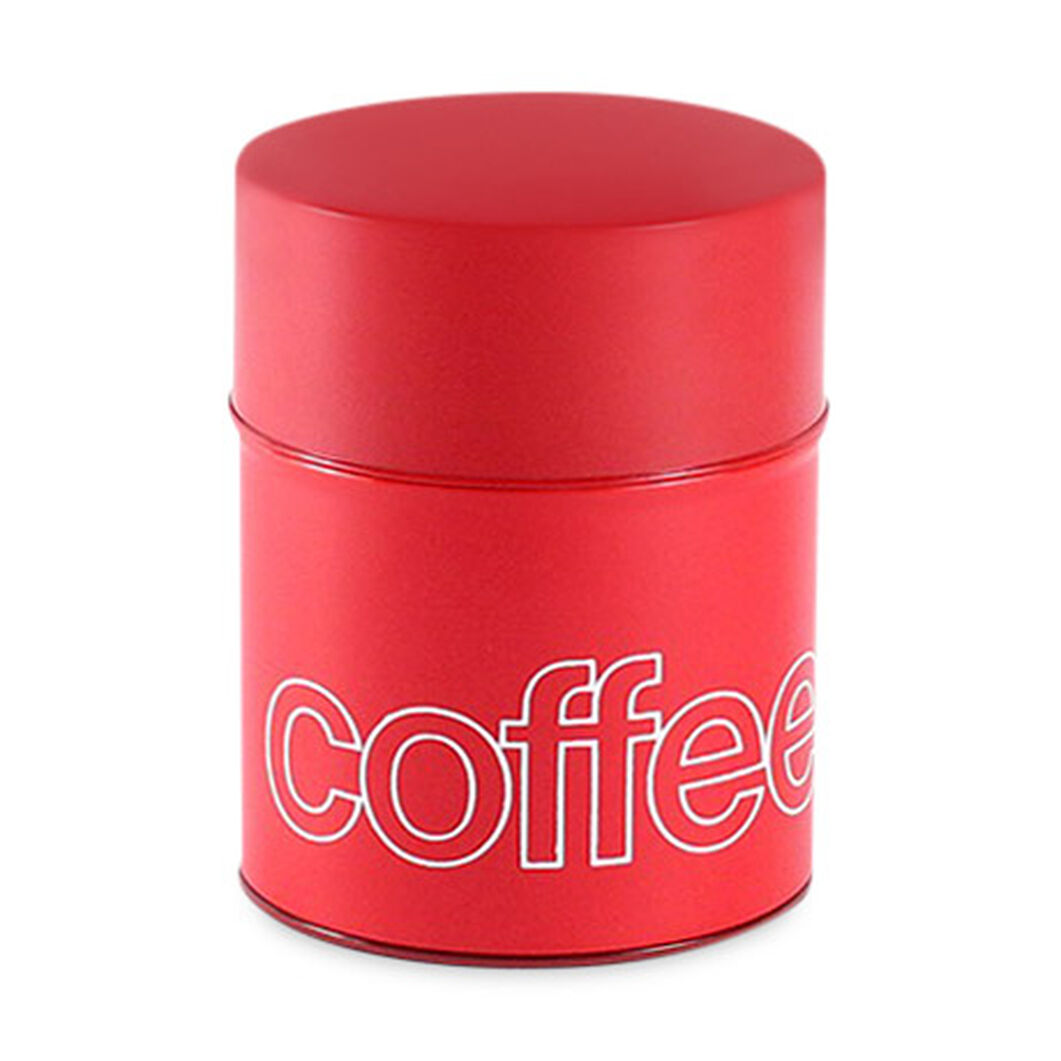 Coffee Canister in color Red