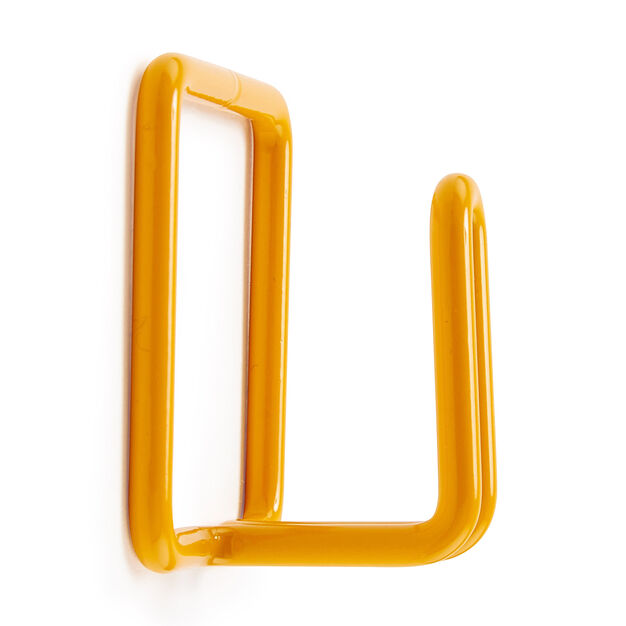 Metal Shape Wall Hook in color Yellow