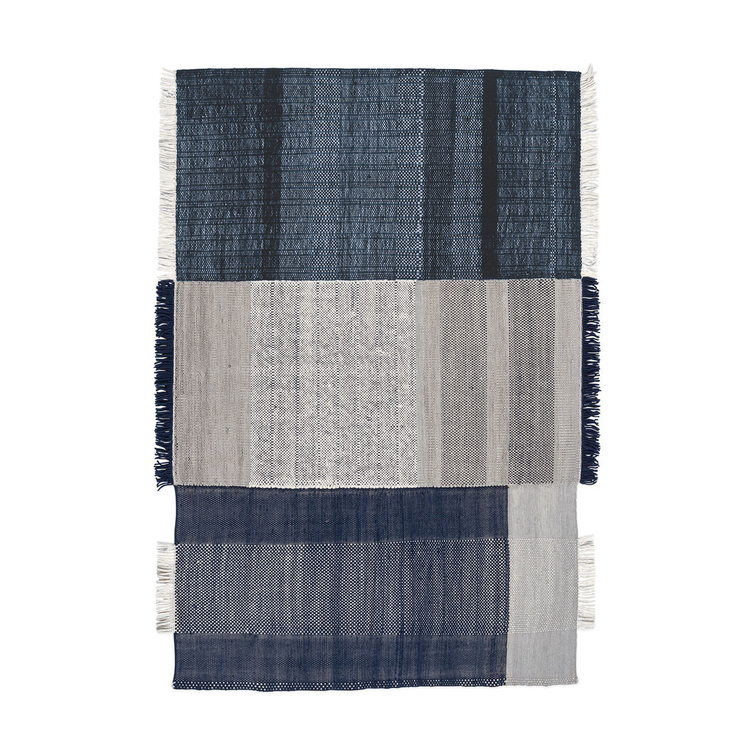 Nanimarquina Tres Rug in color Blue