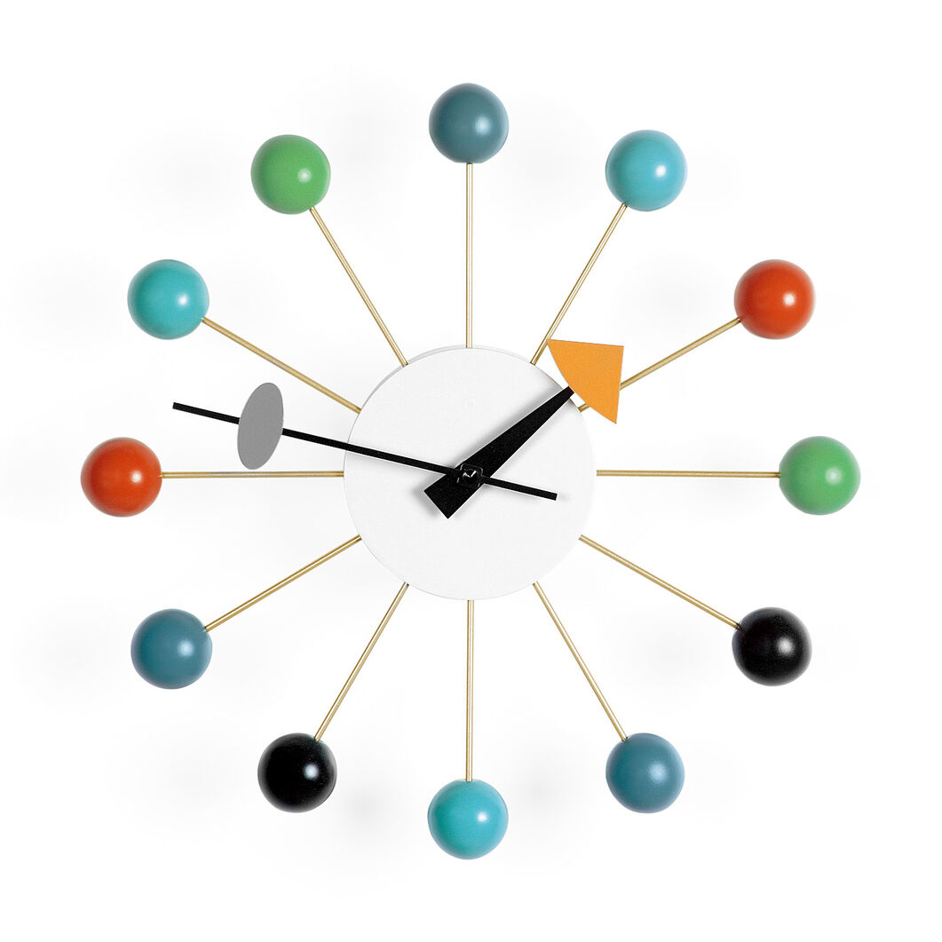 Nelson wall clock multicolor ball moma design store nelson wall clock multicolor ball in color amipublicfo Images