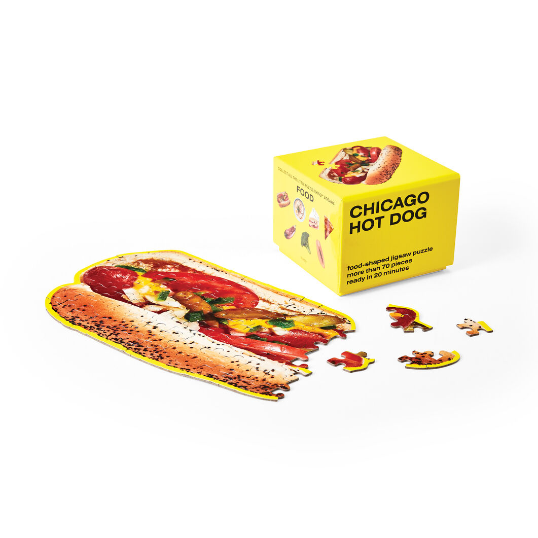 Little Things Puzzle Food Series in color Hot Dog