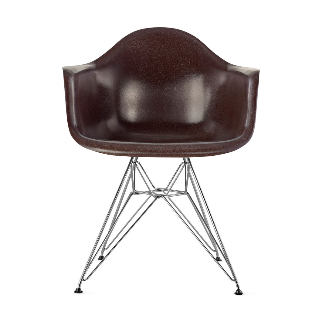 Eames DFAR Armchair  Seal Brown in color