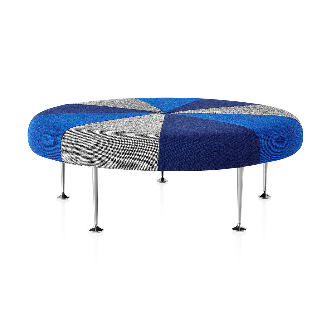 Girard Color Wheel Braniff Ottoman from Herman Miller© in color Dark Blue