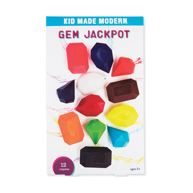 Kid Made Modern Gem Jackpot Crayons in color
