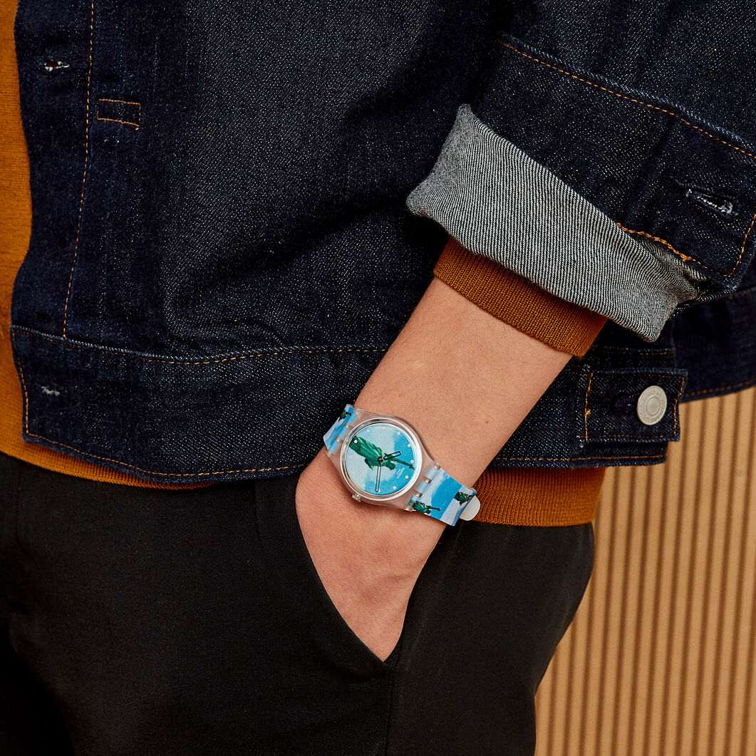 Swatch x MoMA Watches in color Yokoo New York