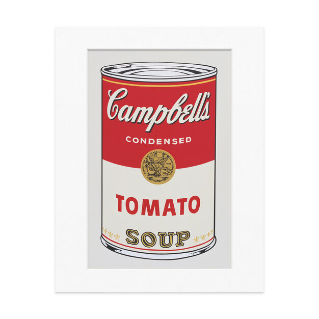 Warhol: Untitled from Campbell's Soup I  Matted Print in color