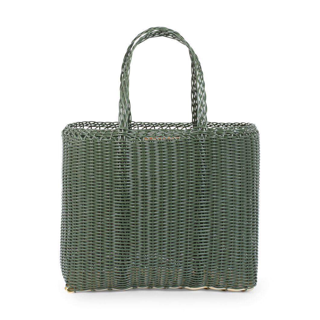 Palorosa Basket Tote Bags in color Green