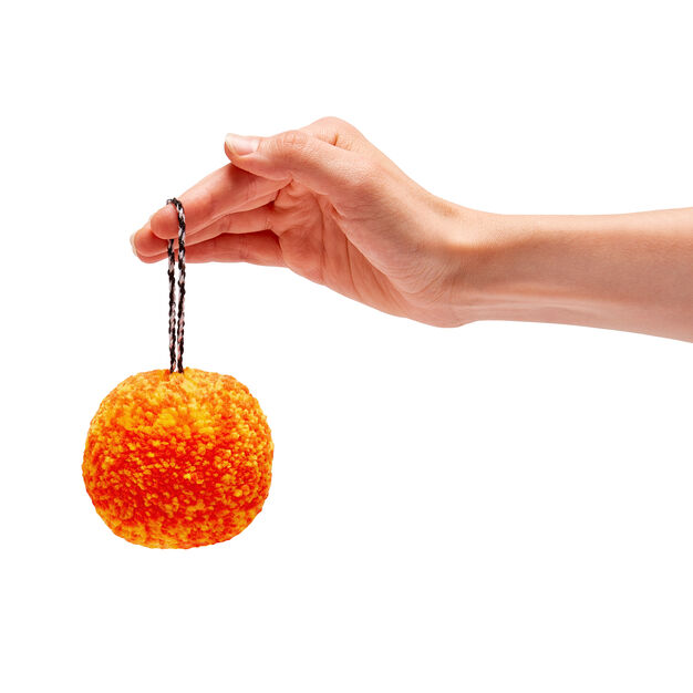 Pompom Holiday Ornaments in color Orange