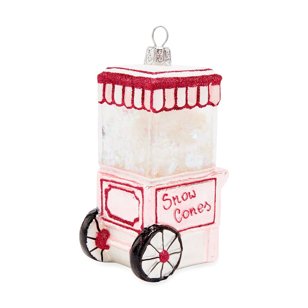Snow Cone Ornament (Pink) in color