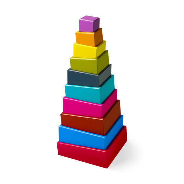 MoMA Topsy Turvy Stacking Blocks in color