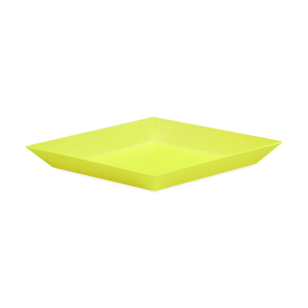 HAY Kaleido Tray Yellow Extra Small in color Yellow