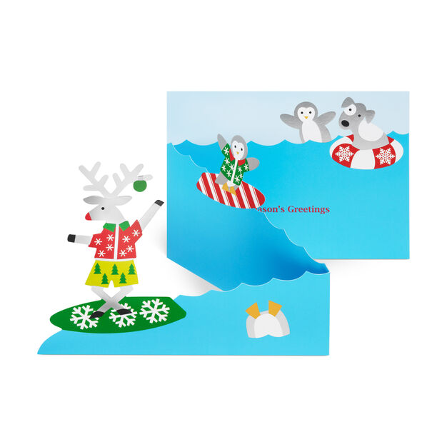 Surfin Holidays Holiday Cards in color