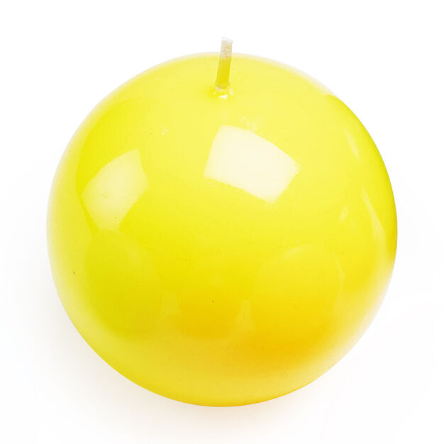 Italian Ball Candle in color Yellow