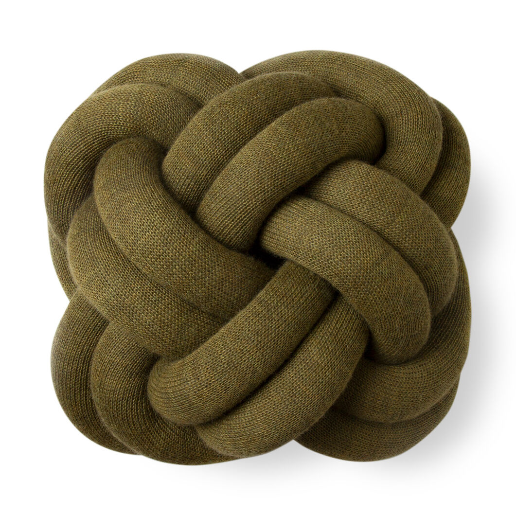 Knot Cushion in color Green